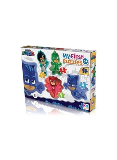 Ks Games KS Games Pijamaskeliler İlk Puzzle Seti - 3+ Renkli